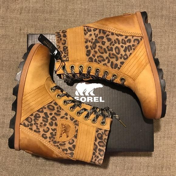 f41ba7a57d77 Sorel RARE Leopard Print Lexie wedges